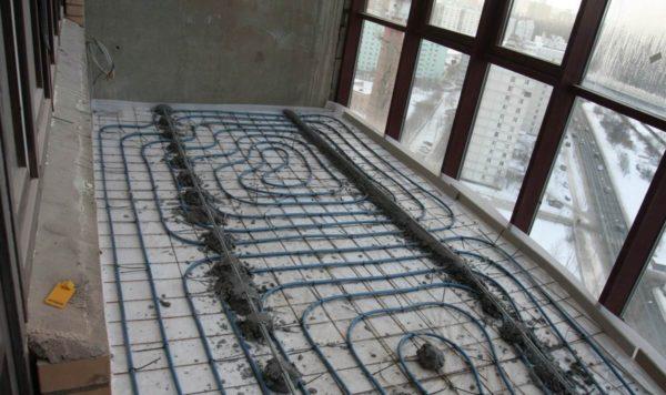 Отопление балкона теплым полом от радиаторов