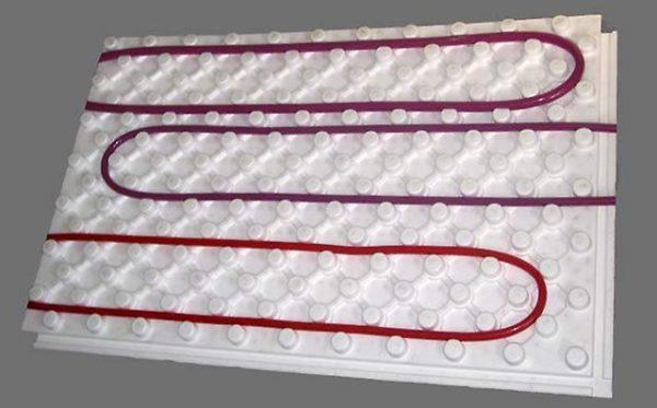 Подложка (плита) для теплого пола пенополистирольная с покрытием