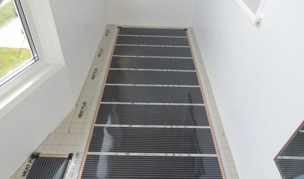 Теплый пол на лоджии - укладка термопленки