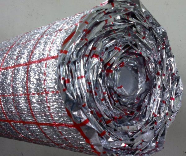 Фольгированная подложка для теплого пола Фомисол с разметкой