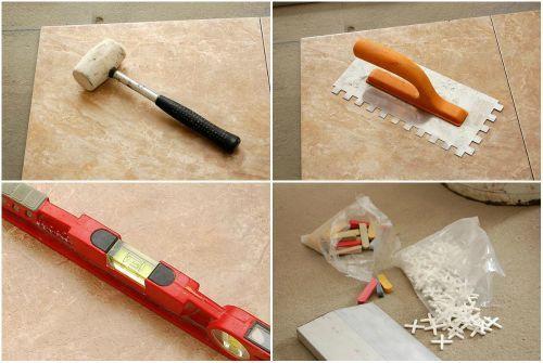 Резиновый молоток, зубчатый шпатель, уровень, пластиковые крестики - все это вам обязательно понадобится