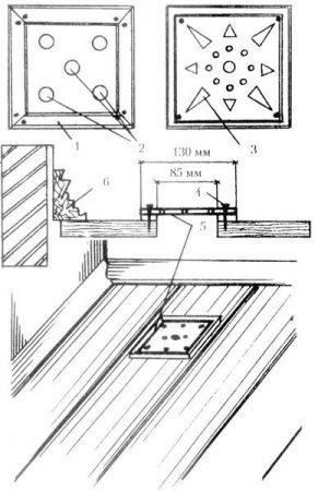 Решетки для вентиляции на полу