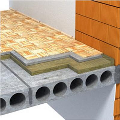 Одна из возможных схем утепления бетонного пола