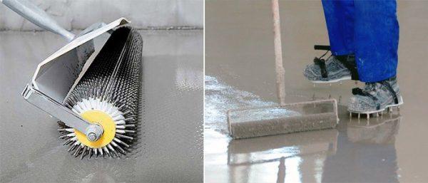 Обработка валиком с шипами