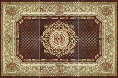 Панно-ковер из крупногабаритных керамогранитных плиток с рисунком