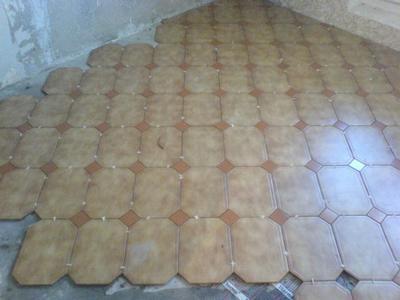 Укладка плитки со срезанными углами
