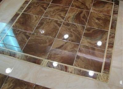 Напольное покрытие из глазурованной плитки