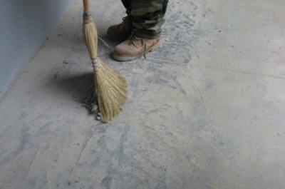 Затирка бетонного пола своими руками