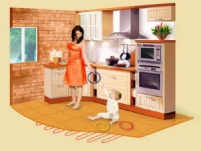 Пол на кухне должен быть безопасен для детей