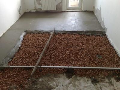 Крупный керамзит - отличное утепление бетонной стяжки