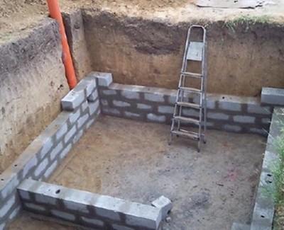 Возведение стенок