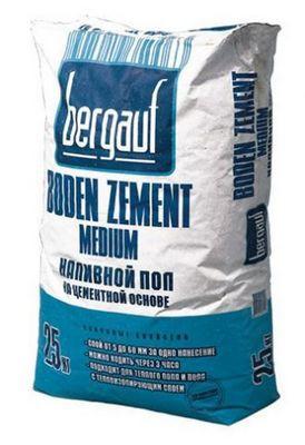Сухая строительная смесь для стяжки Bergauf-Boden-Zement-Medium