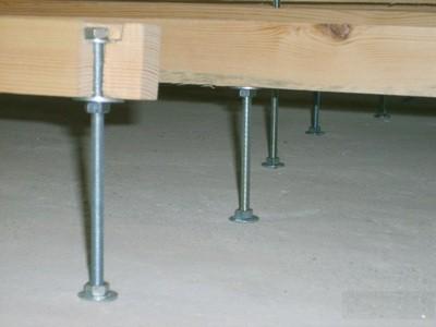 Удобный способ регулировки высоты - с помощью шпилечных стоек
