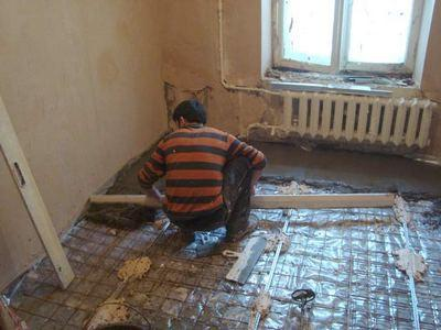 Разравнивание бетонной стяжки
