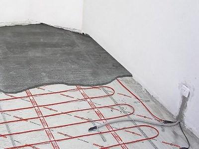 При системе электрического теплого пола стяжка не должна быть толще 30 мм