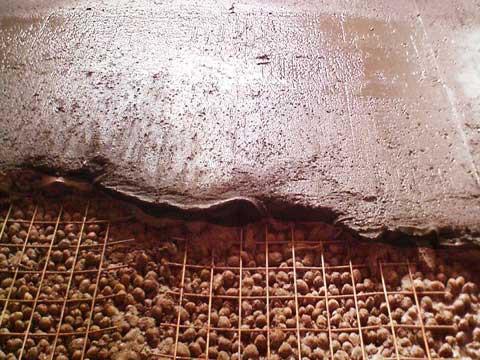 Укладка керамзита под стяжку