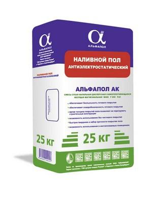 Упаковка сухой строительной смеси - наливной пол с антистатическим эффектом