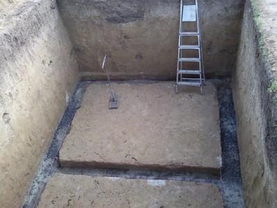 Траншеи под ленточный фундамент в погребе
