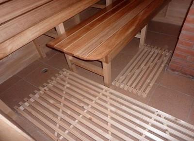 Как залить пол в бане под плитку