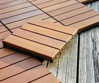 Монтаж деревянных плиток не представляет никакой сложности