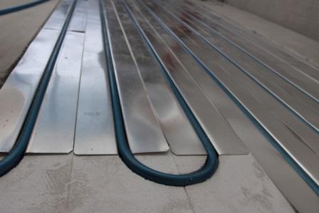 Алюминиевые теплораспределительные пластины теплого пола