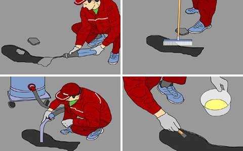 Устранение неровностей бетонного основания