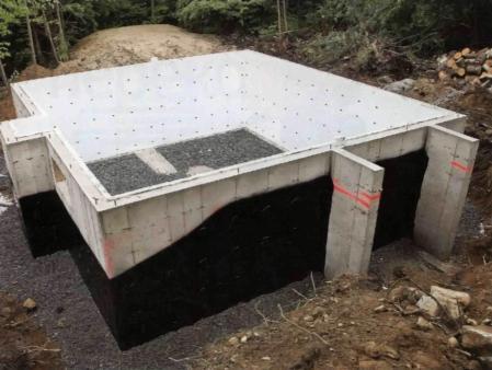 Гидроизоляция цоколя перед обустройством бетонного пола