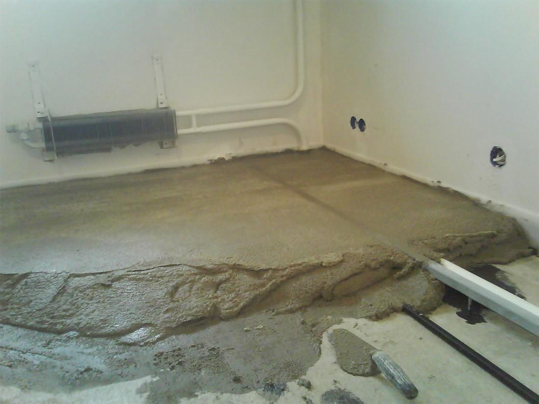 залить бетон полы