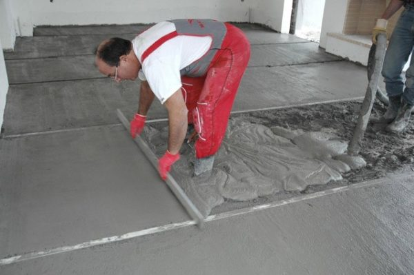Заливка по ровной подготовленной поверхности