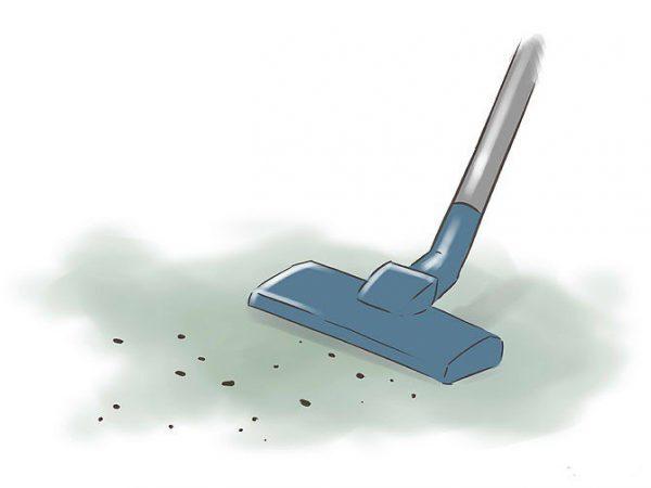 Перед началом покраски поверхность нужно тщательно очистить от разного рода мусора