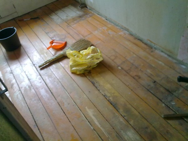 Подготовка деревянного пола к укладке линолеума