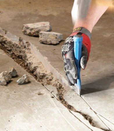 Ремонтируем трещины на бетонном полу