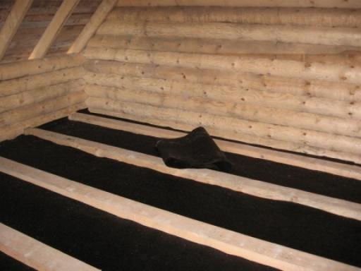 Создание гидроизоляции и утепление бетонного пола в бане