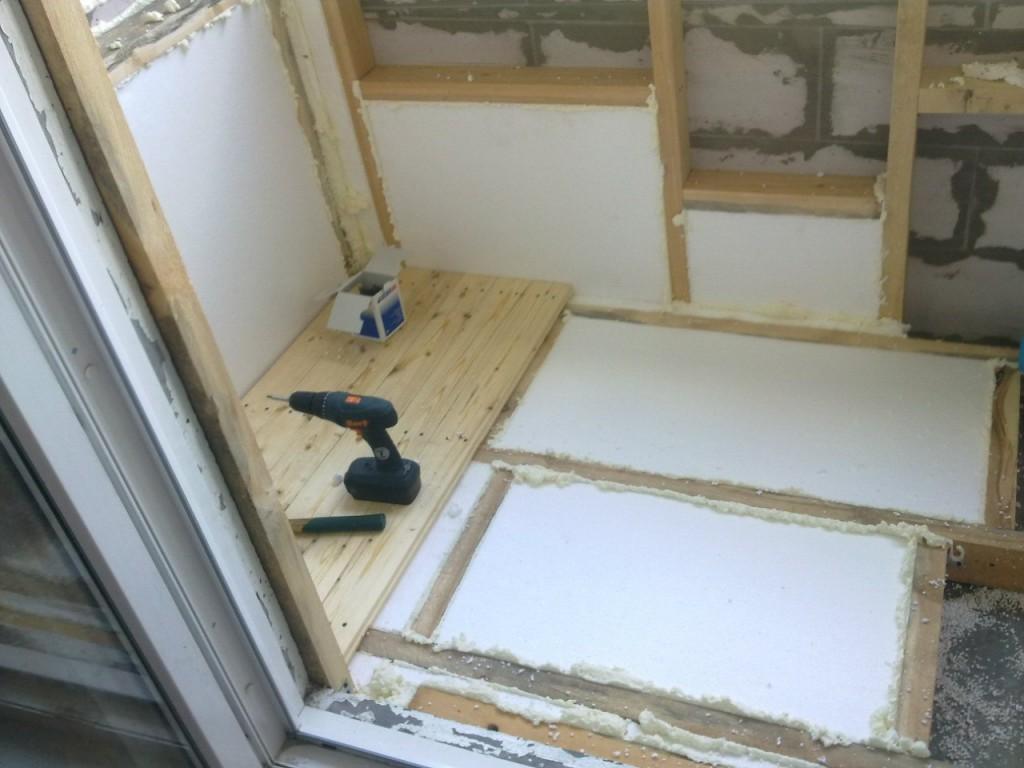 Как утеплить пол балкона своими руками пошаговое фото