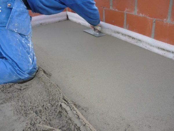 Стяжка из песка и цемента