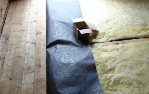 Теплоизоляция пола в бане