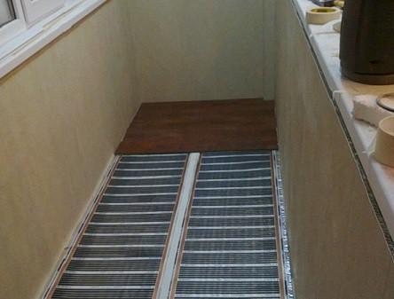 Тёплый пол на балконах и лоджиях