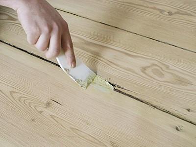 Шпатлевание деревянного пола