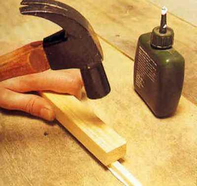 Заделка щелей деревянной рейкой