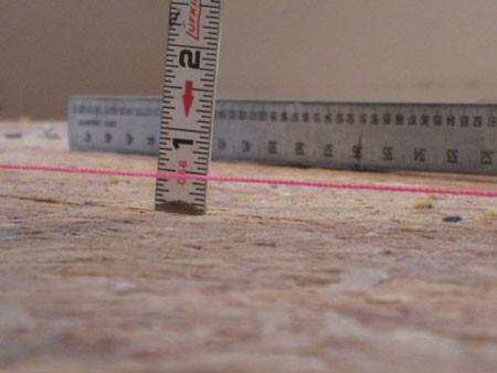 Измерить перепад высот пола