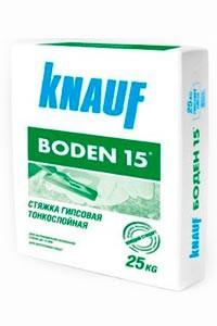 КНАУФ Боден-15 стяжка на гипсовой основе (25кг)