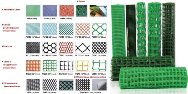 Виды армирующих сеток. Для стяжки применимы и пластиковые сетки