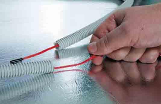 Греющий кабель в гофротрубе