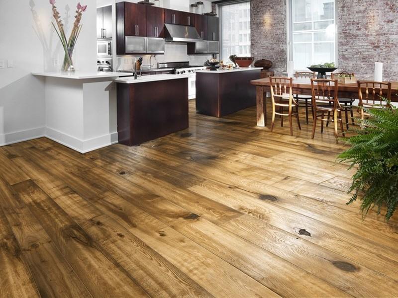 Деревянные полы в кухне своими руками