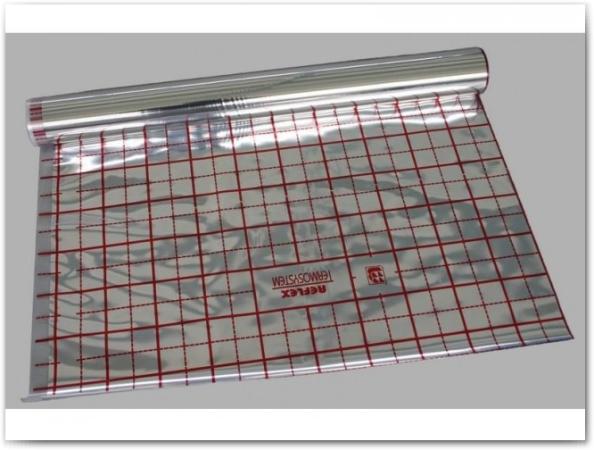Для удобства укладки труб можно использовать разлинованную фольгированную подложку