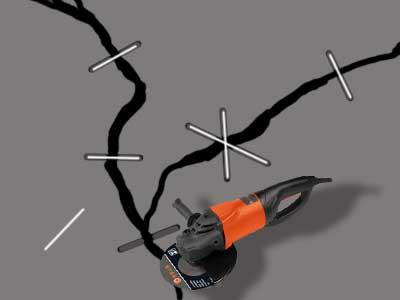 Заделка и ремонт трещины в стяжке пола