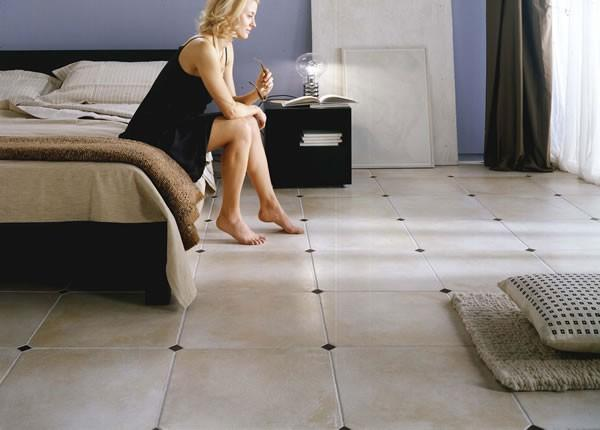 Керамическая плитка для пола может использоваться в жилых помещениях различного типа