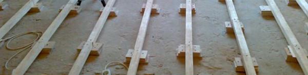 Лаги на бетонной стяжке