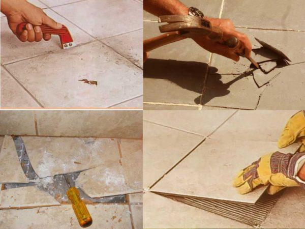 Метод удаления плитки