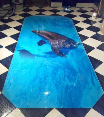 Наливной пол с 3d печатью